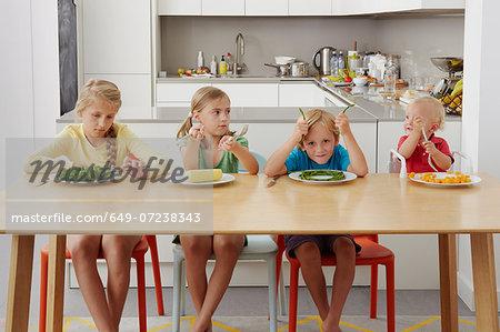 Children refusing to eat vegetables