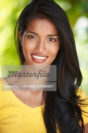 Woman posing for camera