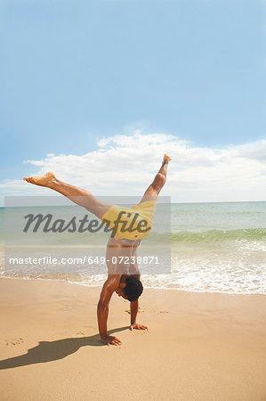 Man doing cartwheels