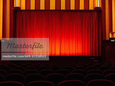 Empty retro cinema
