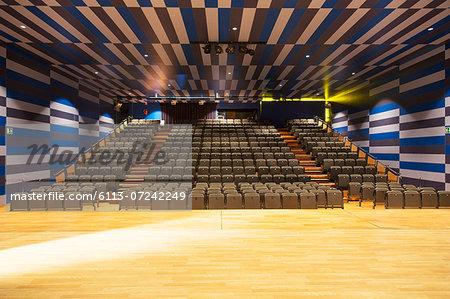 Seats in empty auditorium