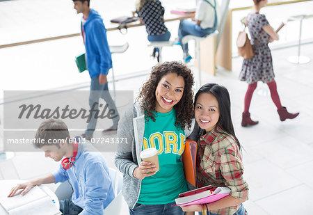 University students smiling