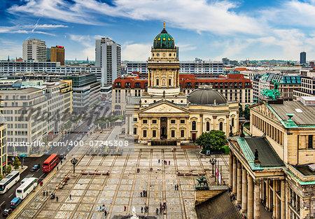 Historic Gendarmenmarkt Square in Berlin, Germany.