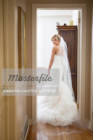 Portrait of Bride Indoors, Toronto, Ontario, Canada