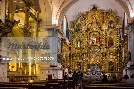 Interior of Cathedral of Santo Domingo, Cusco, Peru