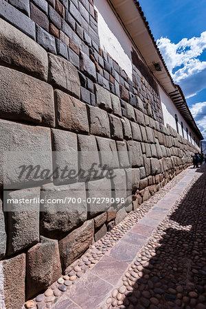 Close-up of stone wall, Inca architecture, Cusco, Peru