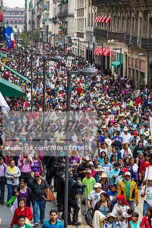 Crowd along Francisco I Madero Street, Centro, Mexico City, Mexico