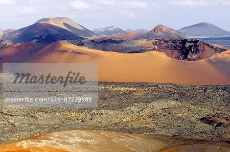 Volcanoes, Montanas del Fuego, Timanfaya National Park, Lanzarote, Canary Islands, Spain