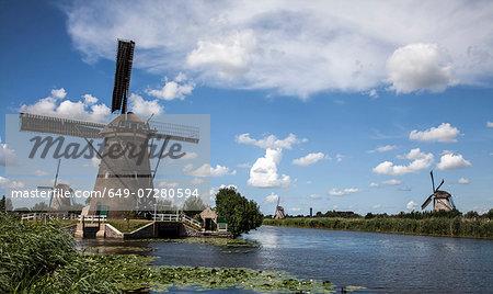 Windmills and waterways, Kinderdijk, Netherlands