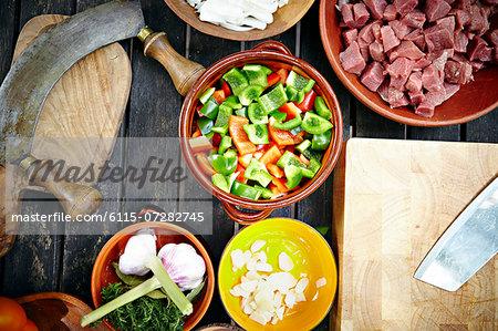 Ingredients for Goulash Stew