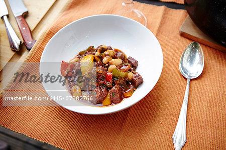 Goulash Stew on Plate
