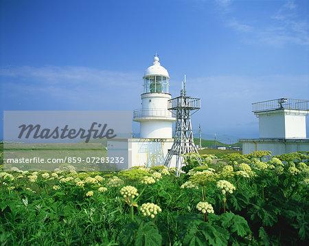 Erimo Misaki Lighthouse, Hokkaido, Japan