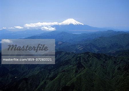 Mt. Fuji From Tanzawa Mountains, Kanagawa, Japan