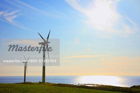 Wind Power, Tomamae, Hokkaido, Japan