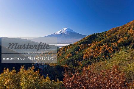 Mt. Fuji Of Autumn, Yamanashi, Japan