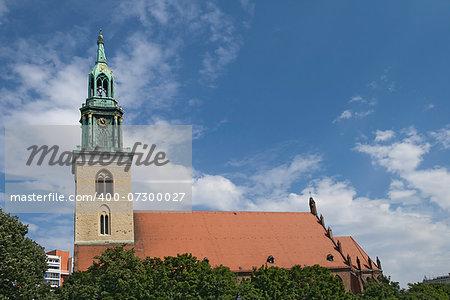 St Mary church in Berlin near Alexanderplatz