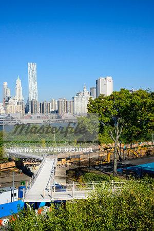 Brooklyn Bridge Park, Brooklyn, Manhattan, New York City, New York, USA