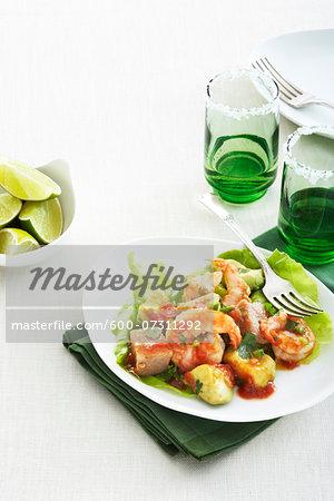 Shrimp and Avocado Salad, Studio Shot