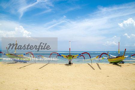 Traditional Boats, Sanur Beach, Sanur, Bali