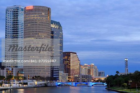Hillsborough River and skyline, Tampa, Florida, United States of America, North America