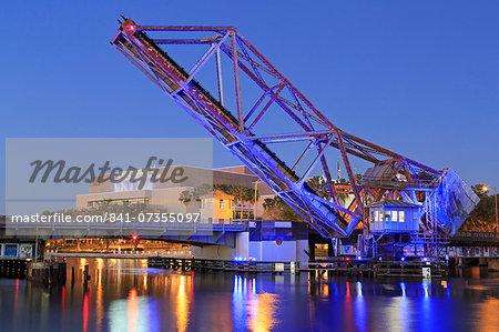 Cass Street and CSX Bridges over the Hillsborough River, Tampa, Florida, United States of America, North America