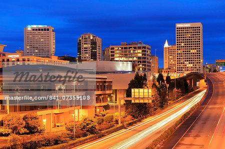 Tacoma skyline, Washington State, United States of America, North America