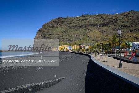 Harbour and Beach of Puerto de Tazacorte, La Palma, Santa Cruz de Tenerife, Canary Islands