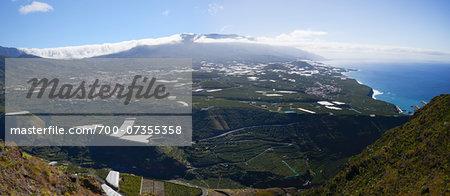 Overview of Valley near Los Llanos and Tazacorte from Mirador del Time, La Palma, Santa Cruz de Tenerife, Canary Islands