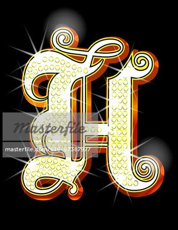 Bling alphabet H