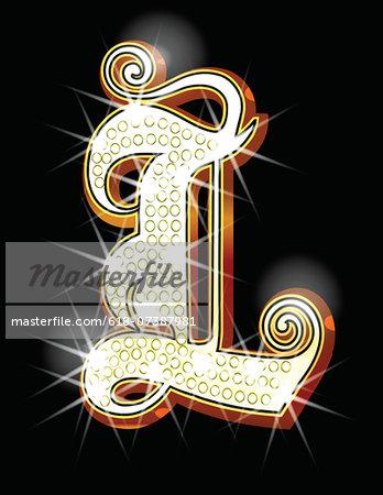 Bling alphabet L