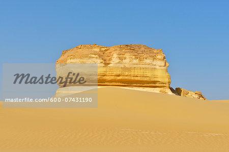 Rock Formation in Desert, Matruh, Libyan Desert, Sahara Desert, Egypt, North Africa, Africa