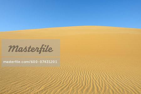 Pattern on Sand Dune and Blue Sky, Matruh, Great Sand Sea, Libyan Desert, Sahara Desert, Egypt, North Africa, Africa
