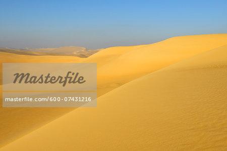 Scenic view of Sand Dunes, Matruh, Great Sand Sea, Libyan Desert, Sahara Desert, Egypt, North Africa, Africa