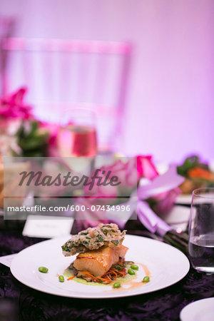 Salmon Entree at Wedding Reception