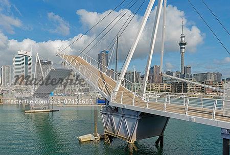 Wynyard quarter bridge lifting, Auckland, North Island, New Zealand