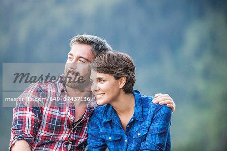 Portrait of young couple, Tyrol Austria