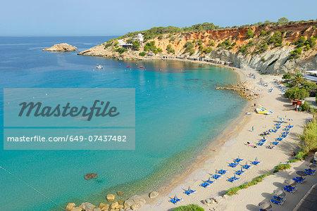 Cala d'Hort beach, Ibiza, Balearic Islands, Spain