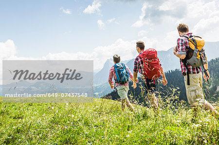 Male friends hiking, Tyrol, Austria