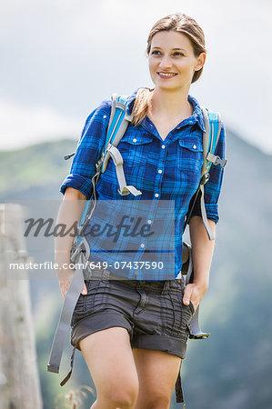 Portrait of mid adult woman, Tyrol, Austria