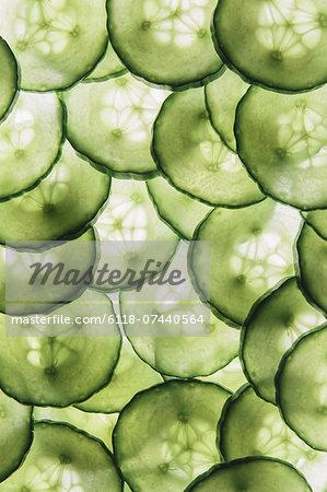 Organic cucumber slices