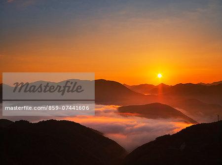 Sunrise and sea of Couds, Wakayama Prefecture, Japan