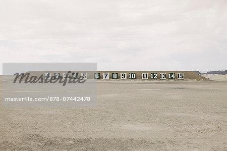 A firing range in the desert in Elko County, Nevada.
