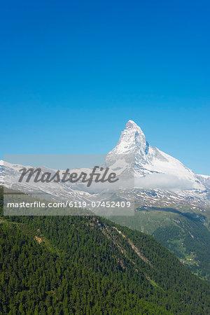 The Matterhorn, 4478m, Zermatt, Valais, Swiss Alps, Switzerland, Europe