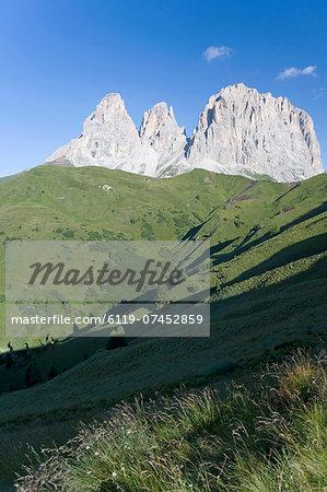 Peaks of the Sassolungo, Dolomites, Italy
