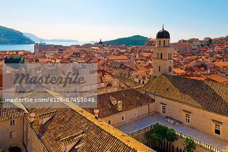 The Tower of the Franciscan Monastery, Old Town (Stari Grad), UNESCO World Heritage Site, Dubrovnik, Dalmatia, Croatia, Europe