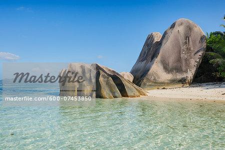 Rock Formations at Anse Source d´Argent, La Digue, Seychelles