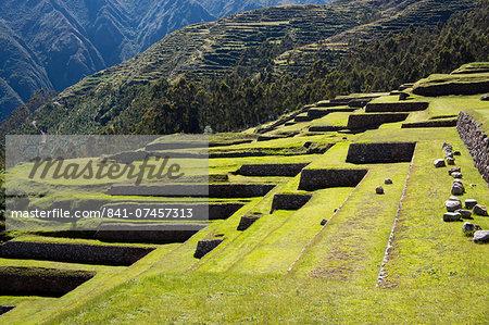 Inca terracing, Chinchero, Peru, South America