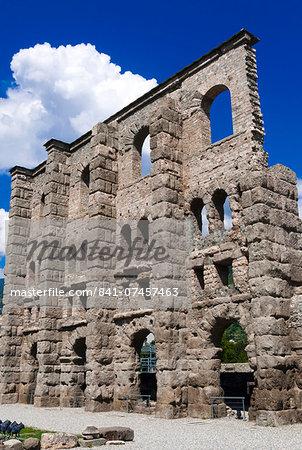 Roman Theater (Teatro Romano), Aosta, Aosta Valley, Italian Alps, Italy, Europe