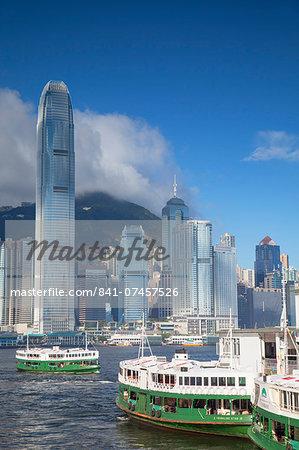 Star Ferry and Hong Kong Island skyline, Hong Kong, China, Asia