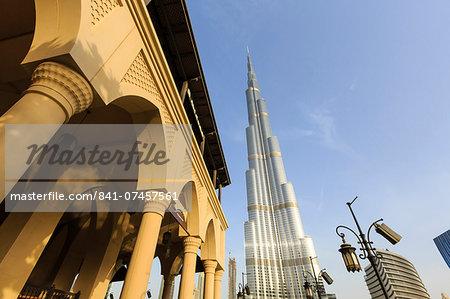 Burj Khalifa and Souk Al Bahar, Dubai, United Arab Emirates, Middle East